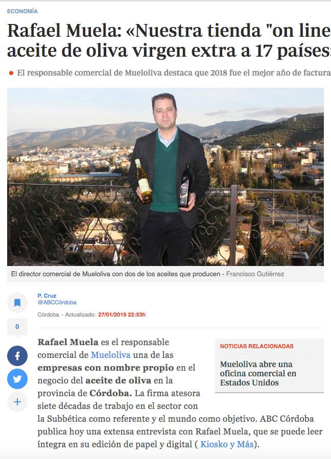 Mueloliva internacional Rafael Muela