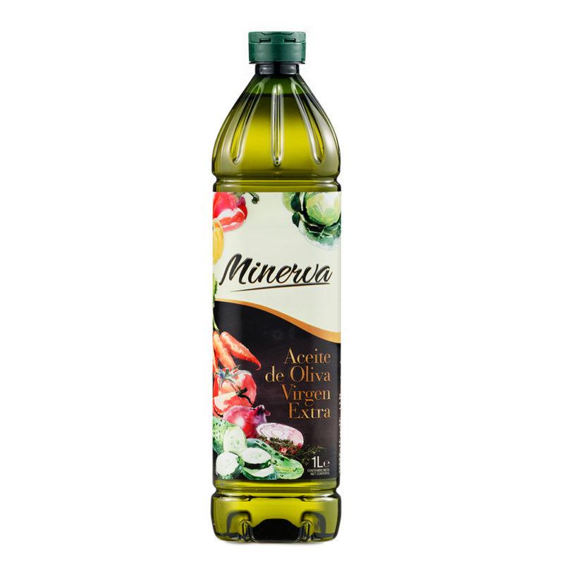 Minerva Virgen Extra PET 1L | AOVE Online | MUELOLIVA