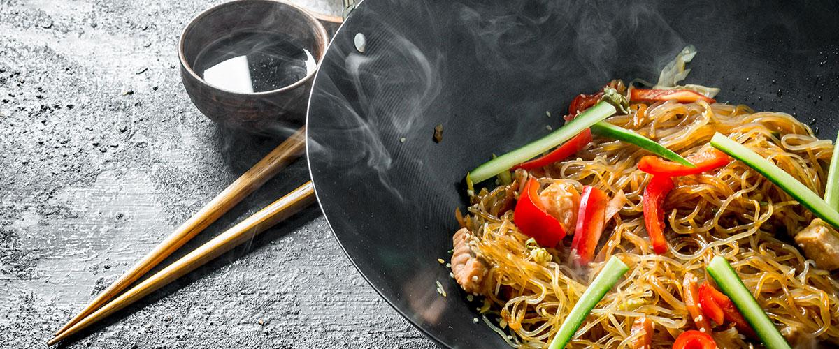 salteado de verduras wok